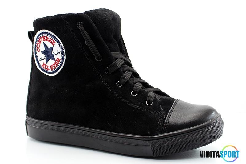 Кеды Converse all star высокие (1505 черные)