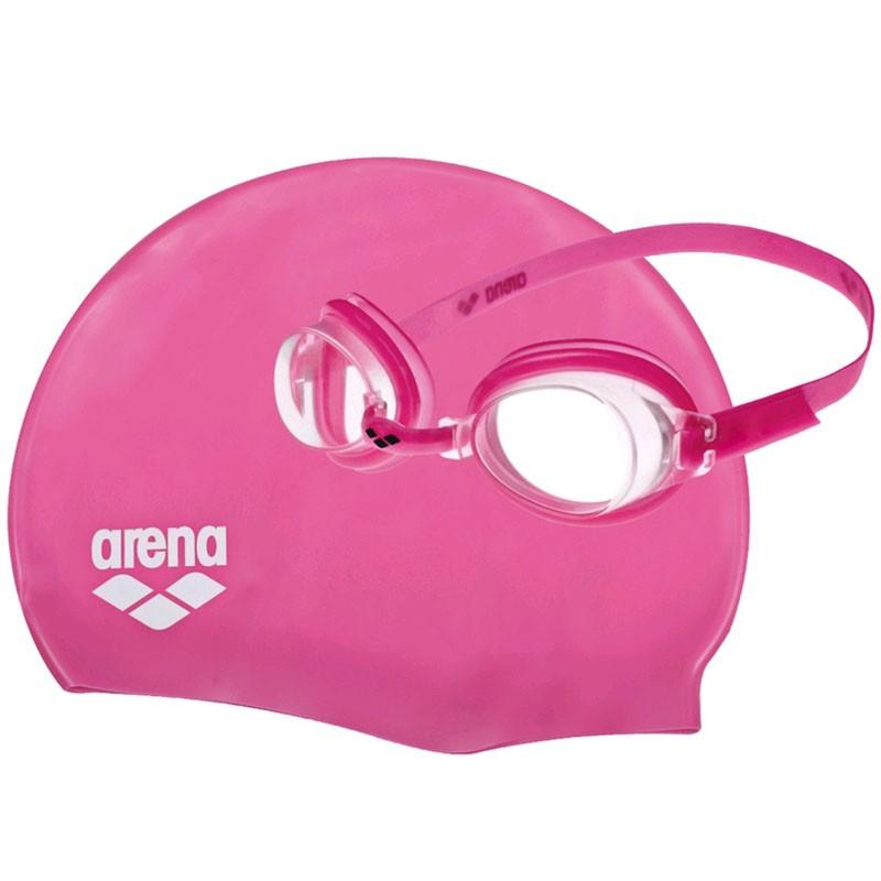 Набор для плавания шапочка + очки Arena Pool Jr Set (92423-092)