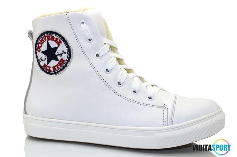 Кеды Converse all star высокие с мехом (1505 белые)