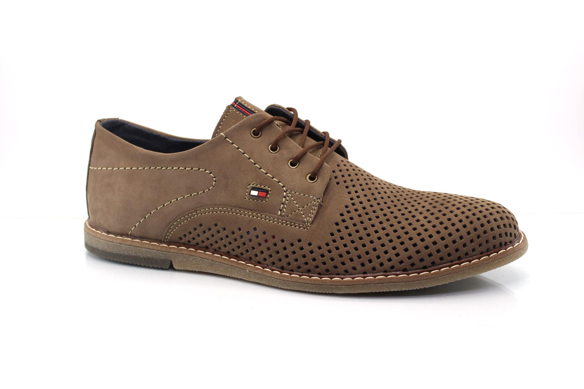 Мужские туфли Multi Shoes Сильвер латте перф.