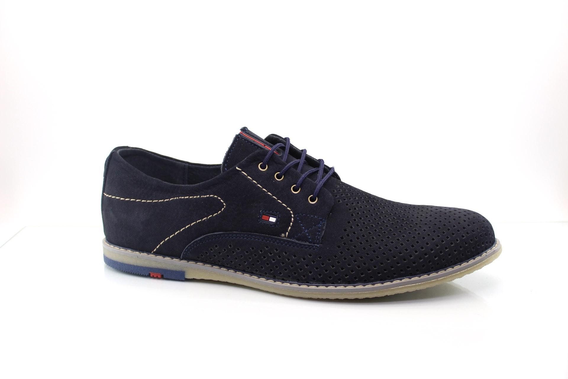 Мужские туфли Multi Shoes Сильвер син. перф.