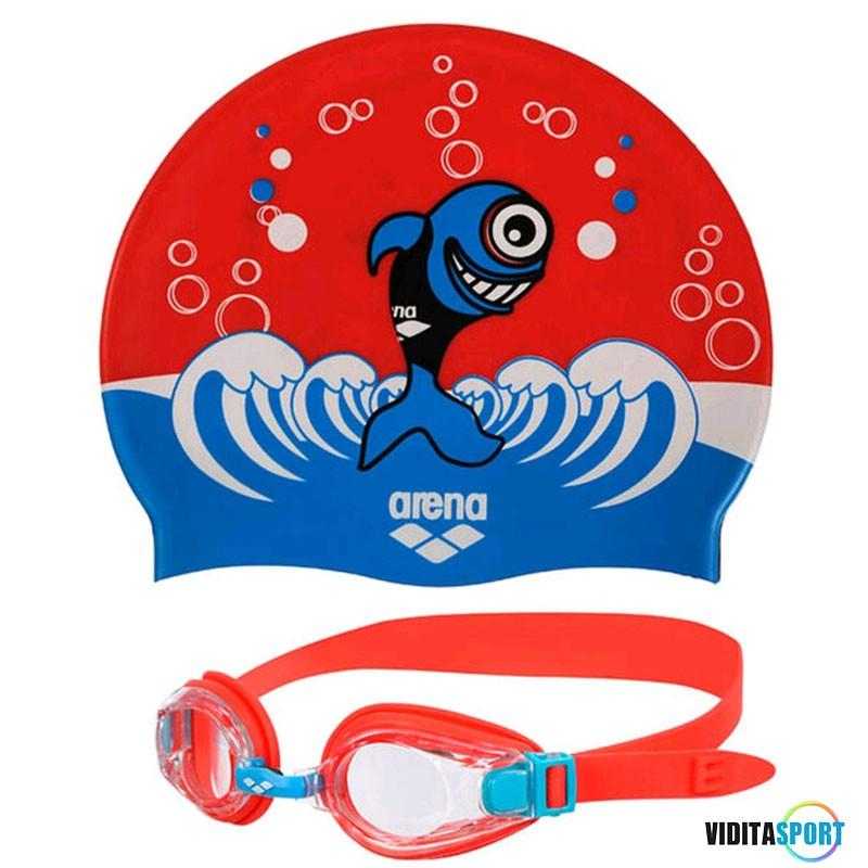 Набор для плавания шапочка + очки Arena AWT Multi Junior Set (92413-37)